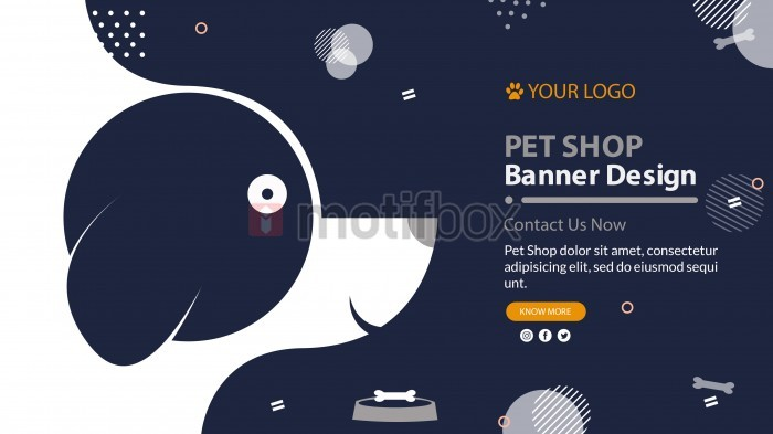 Banner Template with Pet Dog